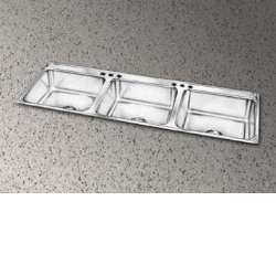 Elkay Lustertone LTR46223 Triple Bowl Top Mount Stainless Steel Kitchen Sink (Elkay Lustertone Bar Sinks)