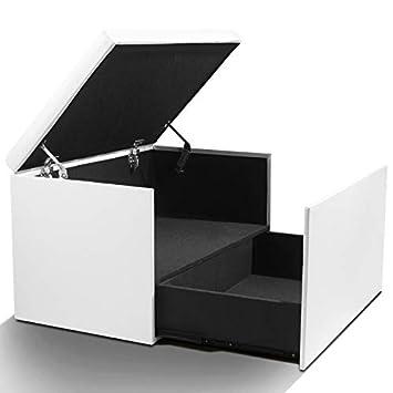 c43522b7818f94 IDMarket - Coffre Rangement Banquette Luxe Blanc spécial Chaussures ...