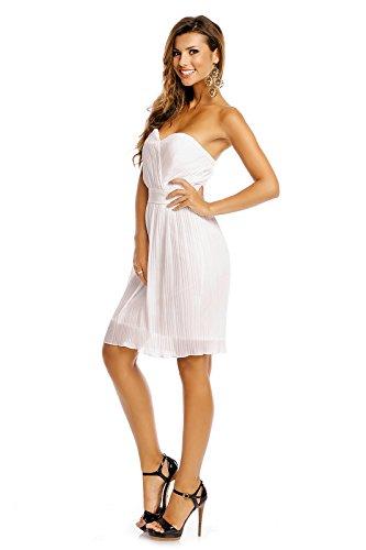 b854b33e819d Fest-kleid Kleid Weiß Spitzen-kleid Mayaadi Abend-kleid Cocktail ...