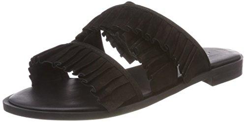 Shoe Biz Halida, Chaussons Mules Femme Noir (Nubuck Black)