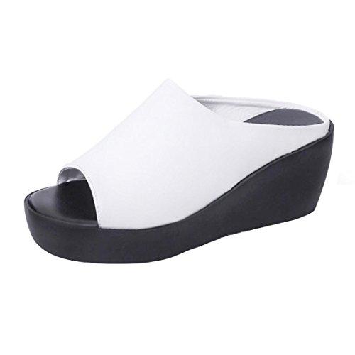 pour Women Blanc Sandals femme Sandales MML qtddY
