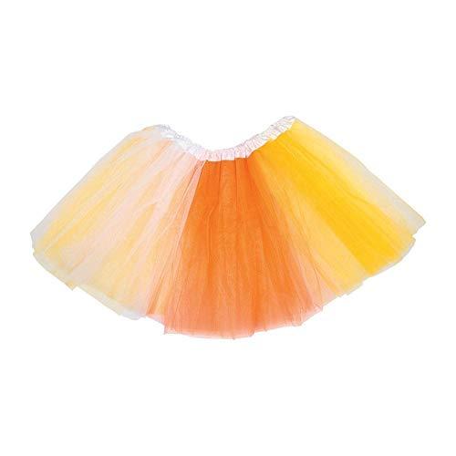 Fun Express Oriental Trading Halloween Adult Costume - Candy Corn Tutu -