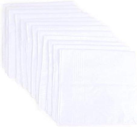 Umo Lorenzo Men'S 12 Piece Cotton Handkerchief