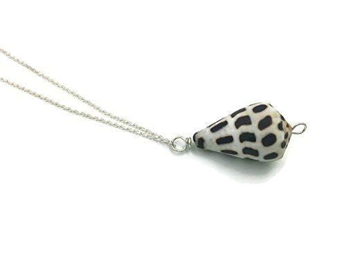 Natural Hawaiian Seashell 18 Inch Sterling Silver Necklace Hand Made, Boho Bohemian Bridesmaid Gift, Additional lengths available ()