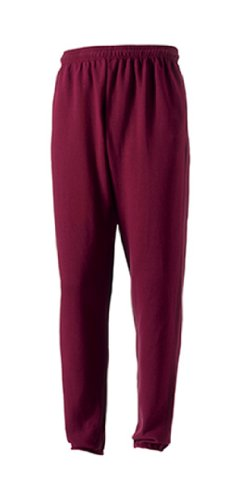 Russell Men's Jogger Sports Sweatpants Burgundy L