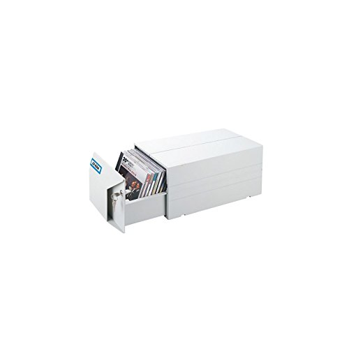 Aidata transmembranico cd20 –  schedario per 40 CD, 335 x 178 x 154 mm, colore: Grigio 335x 178x 154mm