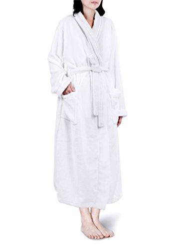 PAVILIA Premium Women Fleece Robe With Satin Trim  ea79af5fa