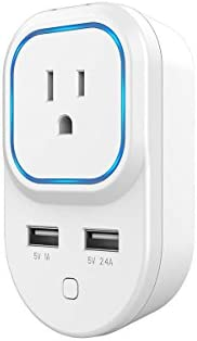 2-Pk. Monoprice Z-Wave Plus Smart Plug and Repeater with 2 USB Ports