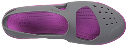 Crocs Swiftwater Wave, Zuecos Para Mujer Gris (Smoke)