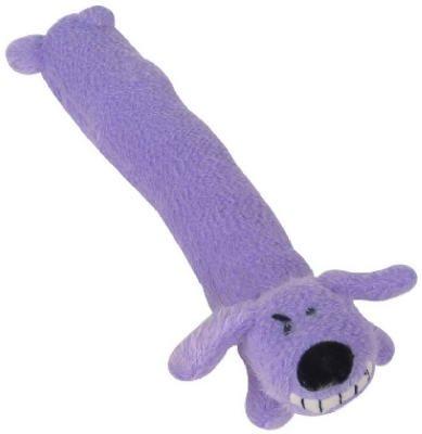 Loofa Dog Plush Dog Toy (Colors May Vary)