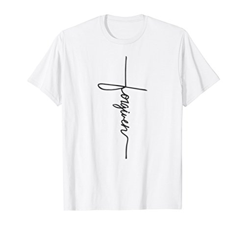 Forgiven Handwriting Cross T shirt Tatoo Faith Hope Love]()