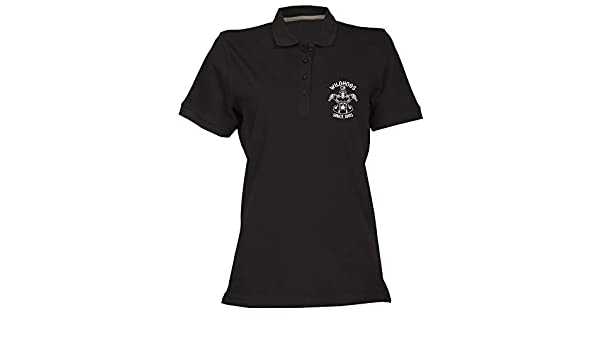 Speed Shirt Polo para Mujer Negro TB0497 Vintage Wild Hog Club ...