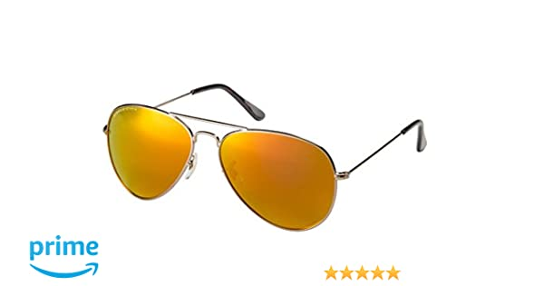 79d658f69df Amazon.com  Eagle Eyes Mirrored Polarized Sunglasses - Celebrity Classic Aviator  Sunglasses