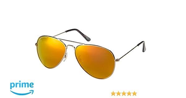 00275b0a182 Amazon.com  Eagle Eyes Mirrored Polarized Sunglasses - Celebrity Classic Aviator  Sunglasses