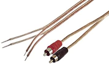 Amazon iec 18 awg 6 speaker wire pair with rca males black iec 18 awg 6 speaker wire pair with rca males blackred keyboard keysfo Choice Image