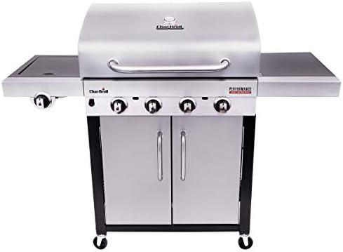 Char-Broil Performance Series 440S - Barbecue à gaz à 4 brûleurs avec système de cuisson TRU-Infrared, finition en acier inoxydable.