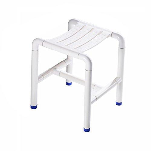 Seats Steel Stainless Shower (NYDZDM Shower Bath Stools Stainless Steel Shower Seat Stool for Elderly/Disabled Anti-Slip Mats Shower Chair Nylon Shell Heavy Duty Max. 300kg)
