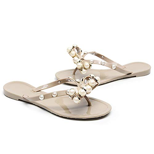c60e7c06c37bc Dear Time PVC Slippers Summer Women Pearl Jelly Sandals Shoes ...
