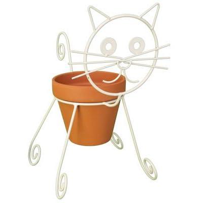 Cat Planter Pot Holder : Garden & Outdoor