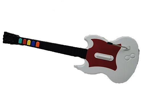 RedOctane Gibson Guitar Hero Guitar / SG Controller (White/Red) for PS2