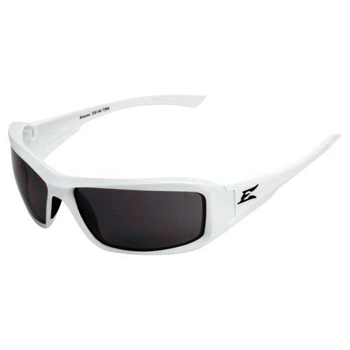 (4001990 Edge Eyewear Brazeau White Frame Polarized Smoke Lens)