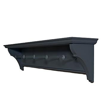 Furneco Hardwood Shaker Peg Shelf Painted Pegs 3 Pegs 50cm