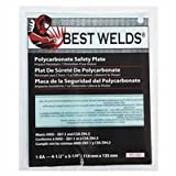 Safety Plate, 4.5 in x 5.25 in, Polycarbonate, Clear (40 Pack)