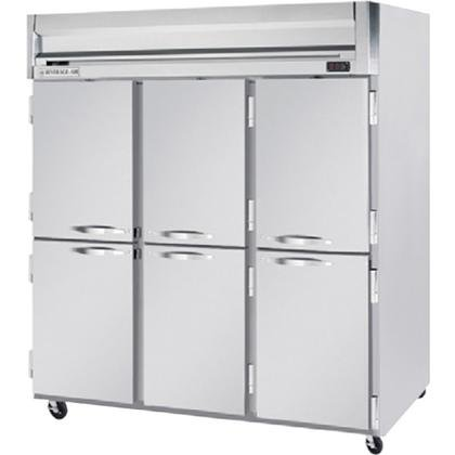 Beverage-Air HFP3-5HS Horizon Series Three Section Solid Half Door Reach-In Freezer 74 cu.ft. Capacity Stainless Steel Front and Sides Aluminum