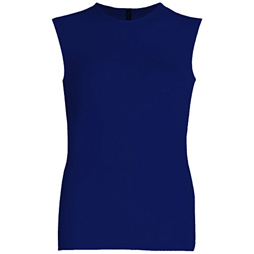 Esteez Womens Sleeveless Fitted Base Layering T-Shirt Navy Large