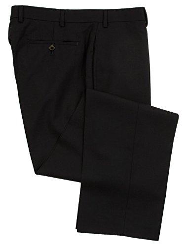 Ralph Lauren Men's Flat Front Solid Navy Blue Wool Dress Pants - Size 35 x30 (Dress Wool Navy Pants)