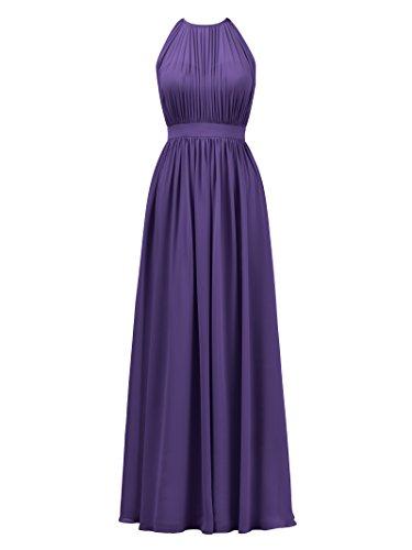 (Alicepub Halter Illusion Bridesmaid Dress Chiffon Formal Evening Prom Gown Maxi, Regency, US14)