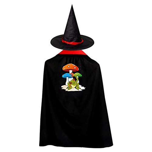 Outlaw Hero Funny Rain Children's Halloween Cloak Black Ponchos Cape With Wizard Hat Costume For Kids ()
