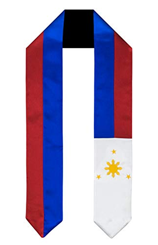 (Philippines Flag Graduation Sash/Stole International Study Abroad Adult Unisex)