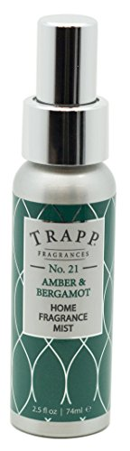Trapp Candles Home Fragrance Mist, No. 21 Amber & Bergamot, 2.5-Ounce ()