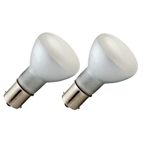 2Pack - 1383 13V Single Contact R12 BA15S Automotive Elevator Reading Bulbs