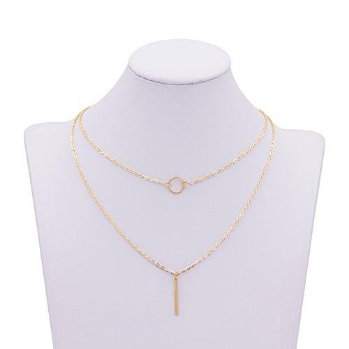 Zealmer Multilayer Pendant Layering Necklace