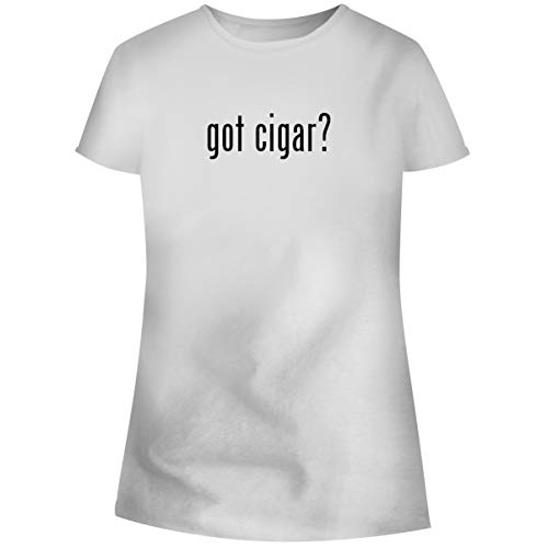 One Legging it Around got Cigar? - Women's Soft Junior Cut Adult Tee T-Shirt, White, Large