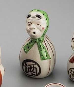 HYOTTOKO 360 cc Sake Bottle 8.5 cm Sake Bottle Pottery Ware