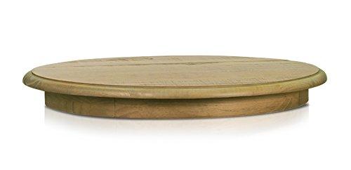 """Artefama Furniture Phill Lazy Susan Spinning Platter, Oak Color, 31"""""""