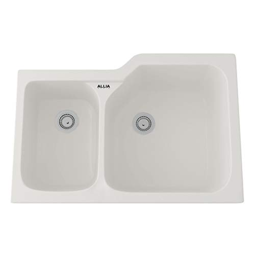 - Rohl 6339-68 FIRECLAY KITCHEN SINKS, Pergame (68) (Biscuit)