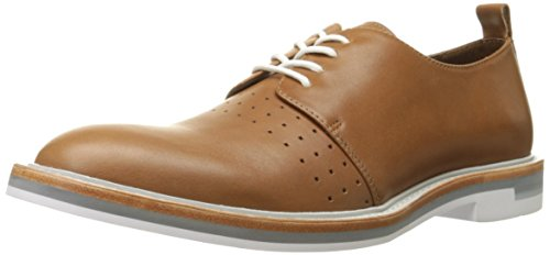 Calvin Klein Men's Jaylon Leather Oxford, Bark, 10 M (Bark Leather Footwear)