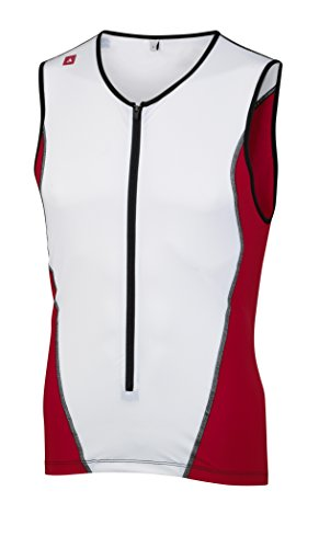 Profile Design Tri ID Top Men red/white Größe XL 2015 Radtrikot Ärmellos