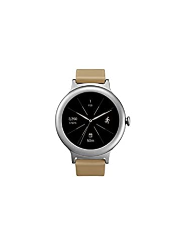 LG Electronics LGW270.AUSASV LG Watch Style Smartwatch with Android Wear 2.0 - Silver - US Version (Lg Sport Watch)