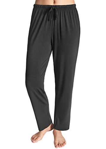 (Latuza Women's Knit Loungewear Pajama Pants S Black)