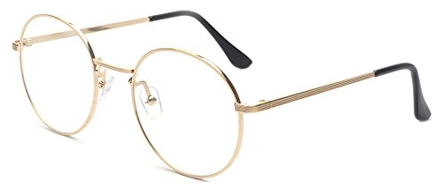 Outray Retro Round Metal Clear Lens Glasses 2136c2 Gold - Retro Glasses Round