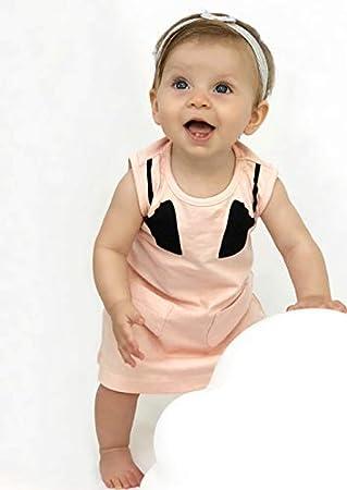 0-24 Monate Kleid pfirsich 0-6 Monate Baby Moos Baby M/ädchen