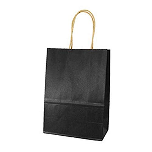 Haga Party Bag Paper Bag with Handles Sweet Color for Halloween Wedding Birthday Party Jewelry Festival Gifts Candy Paper Bags Black 21x15x8cm -