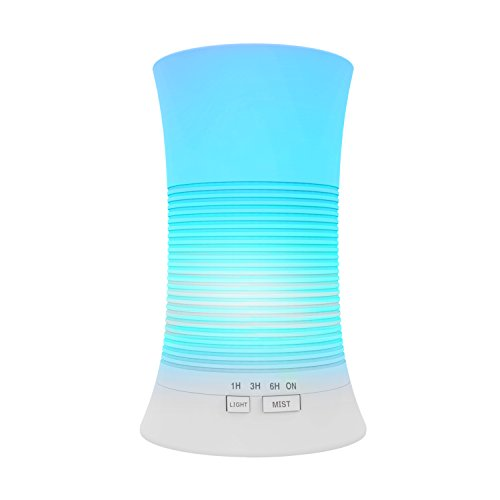 Tenswall Aroma Ultrasonic Essential Oil Diffuser Aromatherapy 200ml Cool Mist Humidifier with Relaxing & Soothing Multi-colour LED Light Perfect for Home, Office, Spa, Baby Room Etc Image