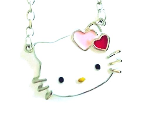 Glazed Black Cherry Sweet charm Hello Kitty Necklace Pendant Fashion Jewelry for Girls Bling hearts bow - Hello Kitty Sweets