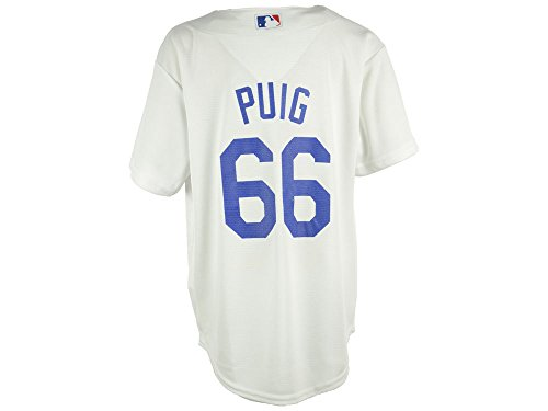 (Majestic Yasiel Puig Los Angeles Dodgers #66 Youth Cool Base Home Jersey (XLarge 18/20))